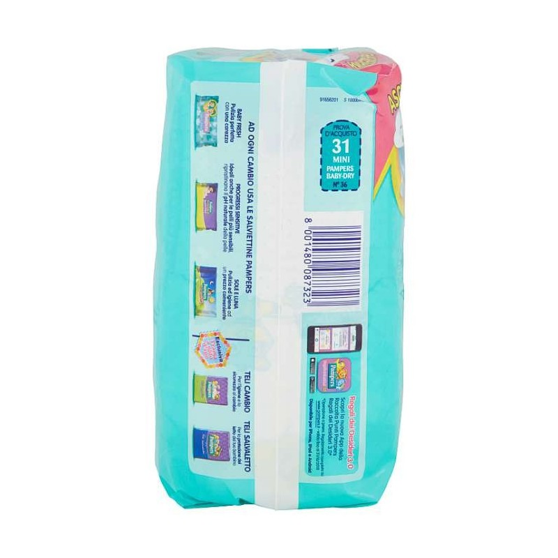 Pampers BABY DRY Mini x31