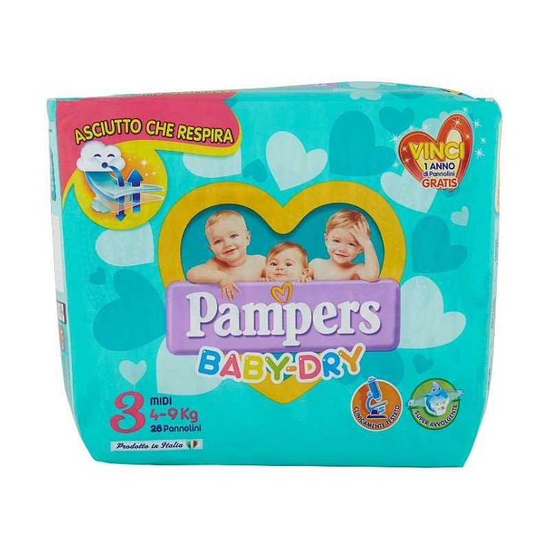 Pampers BABY DRY Midi x28